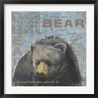 Where Does a Bear Sleep Framed Print