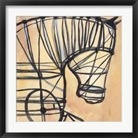 Framed Mechanical Horses