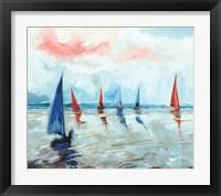 Framed Sailing Boats Regatta