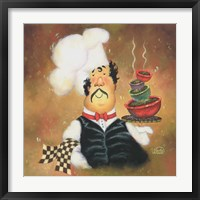 Framed Bow Tie Chef