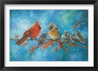 Framed Cardinals Family
