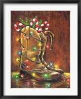 Framed Christmas Boots