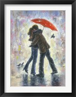 Framed Kiss in the Rain