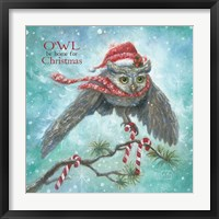 Framed Owl Be Home for Christmas!