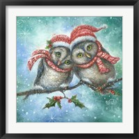 Framed Owl I Want for Christmas is You!