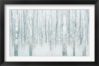 Framed Birches in Winter Blue Gray