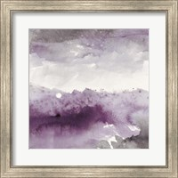 Framed Midnight at the Lake II Amethyst and Grey