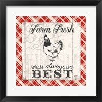 Farmers Market III Framed Print