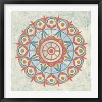 Lakai Circle V Taupe Framed Print