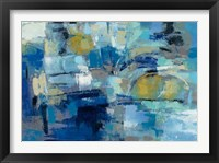 Framed Ultramarine Waves III