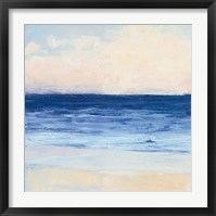 Framed True Blue Ocean I