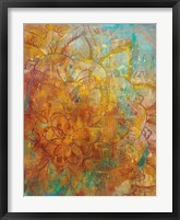 Framed Bohemian Abstract Bright Crop
