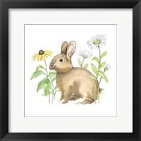Wildflower Bunnies II Sq Framed Print