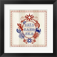 Nautical Wisdom I Framed Print