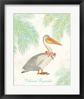 Framed Flamingo Tropicale I