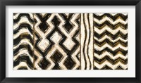 Framed Black and Gold Geometric VII