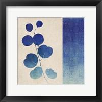 Indigo Leaves II Framed Print
