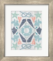 Framed Coastal Otomi II on Wood