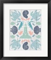 Coastal Otomi III on Wood Framed Print