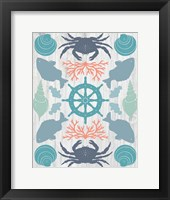 Framed Coastal Otomi IV on Wood