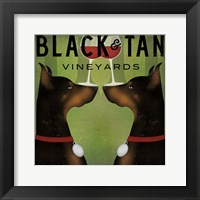 Framed Black and Tan Vineyards