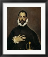 Framed Nobleman with his Hand on his Chest, c. 1577-1584