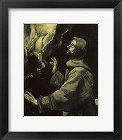 Framed St Francis of Assisi