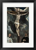 Framed Crucifixion with Two Donors