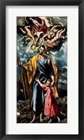 Framed Saint Joseph and the Christ Child