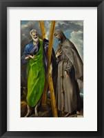 Framed Saint Andrew and Saint Francis