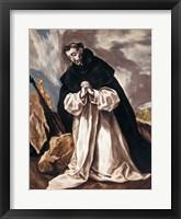 Framed St Dominic in Prayer
