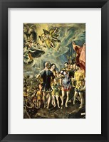 Framed Martyrom of St Maurice and the Theban Legion 1580