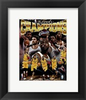 Framed Cleveland Cavaliers 2016 NBA Champions Composite