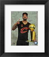 Framed J.R. Smith with the NBA Championship Trophy Game 7 of the 2016 NBA Finals