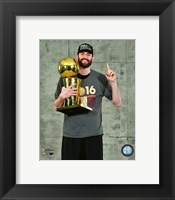 Framed Kevin Love with the NBA Championship Trophy Game 7 of the 2016 NBA Finals
