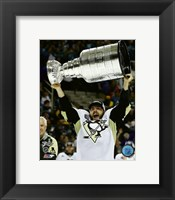 Framed Kris Letang with the Stanley Cup Game 6 of the 2016 Stanley Cup Finals