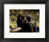 Framed Lebron James & Kevin Love celebrate winning Game 7 of the 2016 NBA Finals