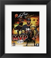 Framed Lebron James 2016 NBA Finals MVP Portrait Plus