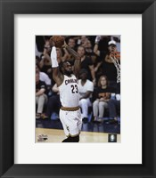 Framed Lebron James Game 6 of the 2016 NBA Finals