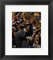 Framed Lebron James with the NBA Championship Trophy Game 7 of the 2016 NBA Finals