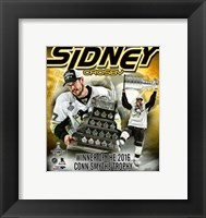 Framed Sidney Crosby 2016 NHL Conn Smythe Trophy Winner Portrait Plus