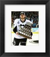 Framed Sidney Crosby with Conn Smythe Trophy Game 6 of the 2016 Stanley Cup Finals