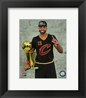 Framed Tristan Thompson with the NBA Championship Trophy Game 7 of the 2016 NBA Finals