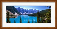 Framed Moraine Lake, Banff National Park, Alberta, Canada