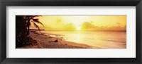Framed Sint Maarten Sunset, Netherlands Antilles