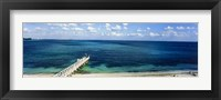 Framed Beach Pier, Nassau, Bahamas