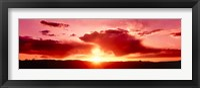 Framed Red Sunset, Arches National Park, Utah