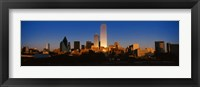 Framed Dallas, Texas at Dusk