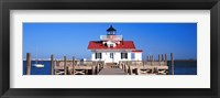Framed Roanoke Marshes Lighthouse, Outer Banks, North Carolina