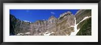 Framed Glacier National Park Mountain Range, Montana